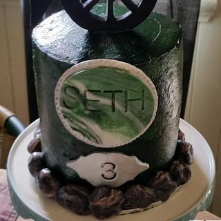 """💣Cannon topper  6""""inch Cake💣 - Cake by FNQ Cake Share"""