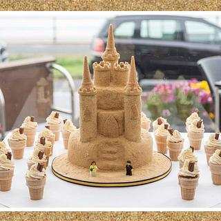 Queen of the Sandcastle - Cake by Cakes By Kirsty