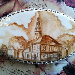 My city painted with coffee