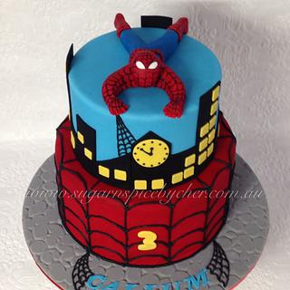 Spider-man Themed Cake
