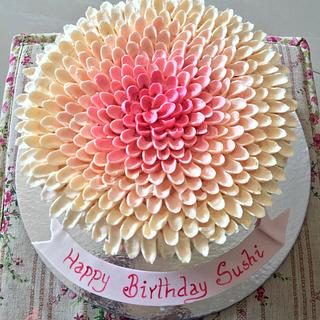 My first Chrysenthemum - Cake by Sheeba