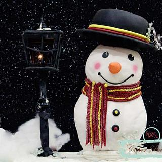 Snowman in Christmas - Cake by Shikha