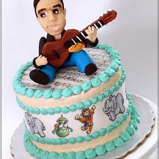 The man and his guitar - Cake by Alondra Aguilar