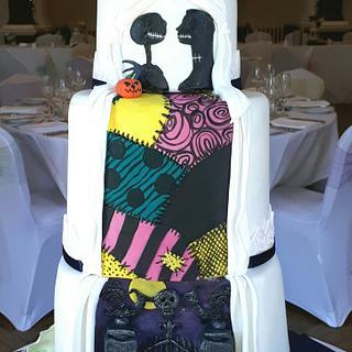 Nightmare Before Christmas-'secret reveal' wedding cake