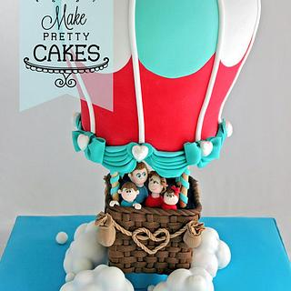 Your love lifts me - 3D Hot Air Balloon Cake