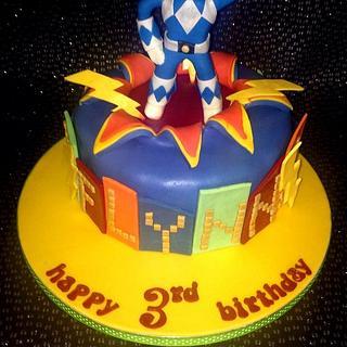 Power ranger explosion cake