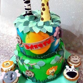 Jungle Airbrushed Cake