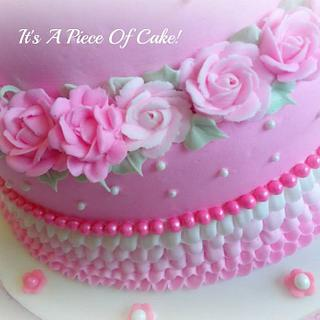 4 Tier Princess Cake in Buttercream