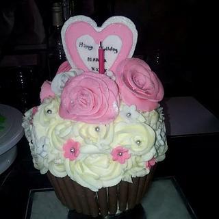 giant girly cupcake