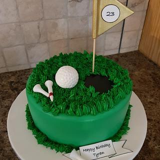 Golf Cake - Cake by Bijoubakes