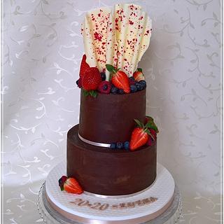 Ganache birthday cake