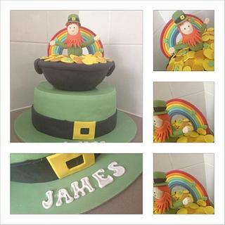 St pat's theme 21st cake
