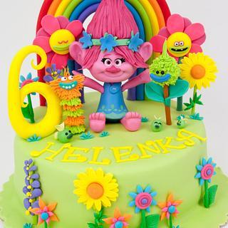 Trolls Poppy Cake / Tort z bajki trolle