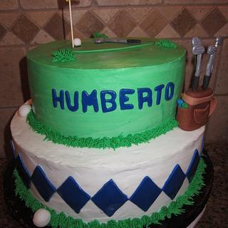 Golf Cake - Cake by vkylyn