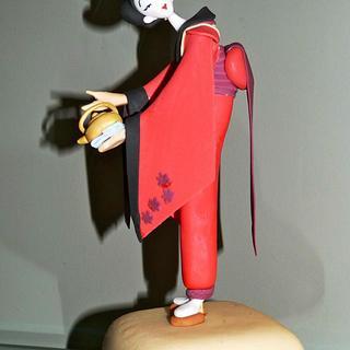 Carlos Lischetti Tea Ceremony geisha model - Cake by Angel Cake Design