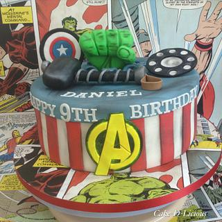 Avengers  - Cake by Sweet Lakes Cakes
