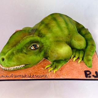 Baby Dinosaur - Cake by Fantail Cakes