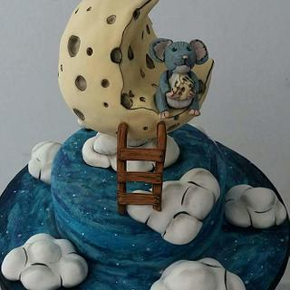 Cheese moon cake