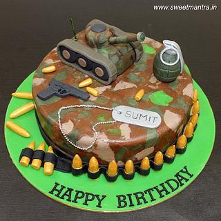 Marvelous Military Tank Cake 4 Cakes Cakesdecor Personalised Birthday Cards Paralily Jamesorg