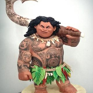 Maui di Oceania ( Moana )  - Cake by simonelopezartist