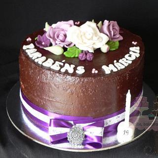 Flowers Cake  - purple