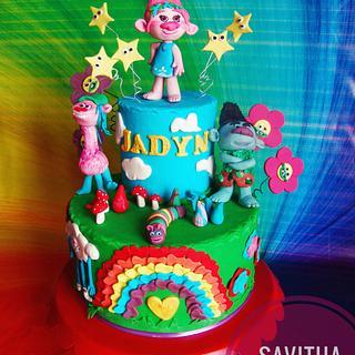 Trolls Birthday Cake - Cake by Savitha Alexander