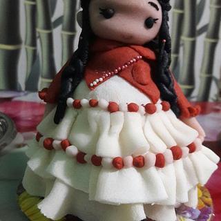 My Hand Made Doll Cake