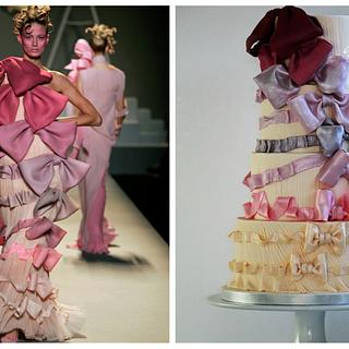 Viktor&Rolf fashion inspired cake