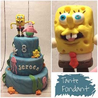 SpongeBob  - Cake by Tante Fondant
