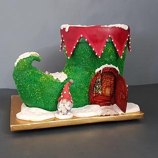 Gnome Boot Cake