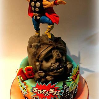 Marvel Comics cake
