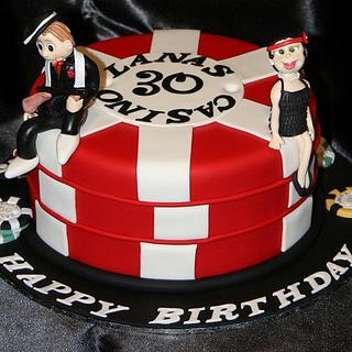 Casino Gangster Cake