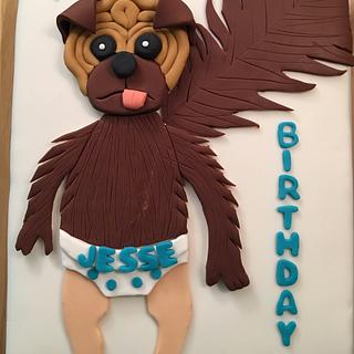 Baby puppy monkey cake - Cake by For Heaven's Cakes by Julie