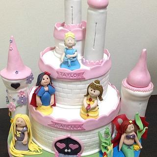 4th & 5th Birthday Princesses Castle Cake