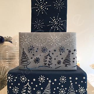 blue Xmas - Cake by maria antonietta motta - arcake -