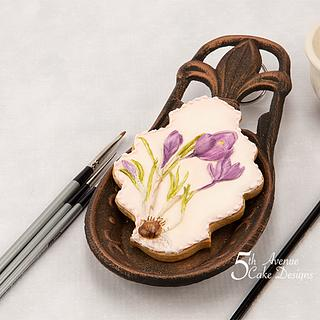 Crocus Flower Cookie for Mom 💐🌱👒