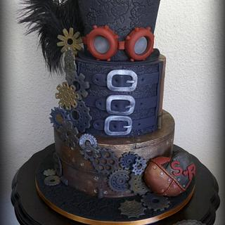 Steampunk Wedding Cake - Cake by Have Some Cake