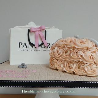Pandora Bag and Clutch Bag 16th Birthday cake