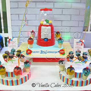 Gumball Machine Cake