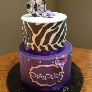 Zebra & Soccer Birthday