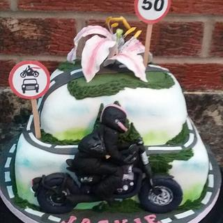 Lady Biker cake