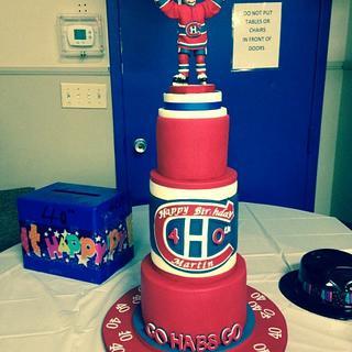Habs fan birthday cake