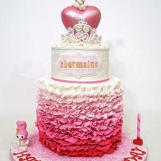 My Melody Princess Cake