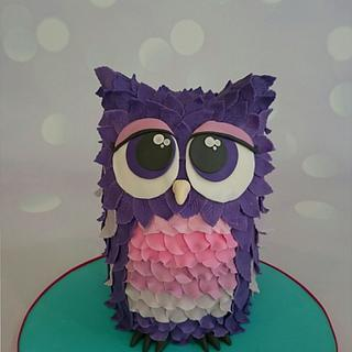 My purple owl cake