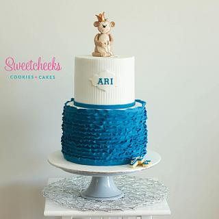 Boy's Christening Cake - Cake by SweetDanni