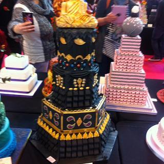 The Gold Buddha Wedding Cake