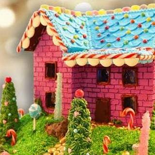 Whimsical Gingerbread House