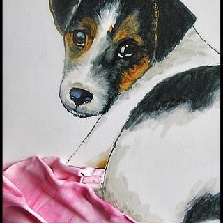Handpainted Jack Russell Terrier