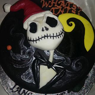 nightmare before christmas welcome home - Cake by Red Alley Cakes (Alison Rankin)
