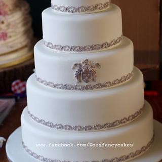 Coat of arms wedding cake